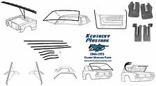 Mustang Weatherstrip Kit Coupe1964 1965 1966
