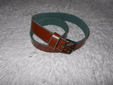 Women's TARDINI brown leather belt size S M  Made in Italy