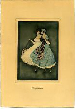 AUTHENTIC VINTAGE JENNIE HARBOUR LITHOGRAPH PRINT C. 1917 - 1927 (17)