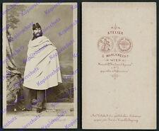 ORIG CDV FOTO tenente Uniform cavalleria Unito Baviera banchetto Knecht Vienna 1867