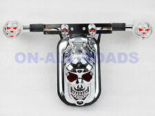 Chrome Skull Tail Light Skull LED Turn Signal for Kawasaki Vulcan Classic Custom