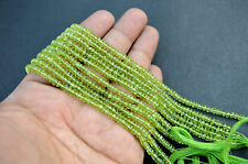 "45 Ct Natural Peridot Lovely Gemstone Round Faceted Beads 13"" 1 Strand Wholesale"