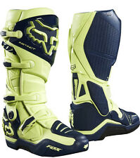FOX 2017 STIVALI BOOTS MOTO CROSS INSTINCT LIMITED NAVY GIALLO FLUO TG 10 44