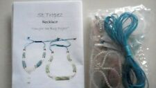 ST TROPEZ BEAD SPIDER NECKLACE & BRACLET KIT, SAND & SUN, 2 BLUE COLOURED CORDS