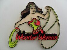 "Comic TV Series WONDER WOMAN Rare Vintage Huge 3"" PLASTIC PIN BADGE BROOCH Pins"