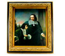 Reproduction Painting on Canvas of 18th century Masterpiece, Headmaster & Pupil