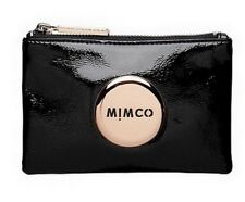 MIMCO Black Small Pouch Wallet Rose Gold Button Classic Wallet Clutch Bag Gift