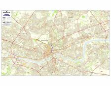 Postcode City Sector Maps 9 Newcastle-upon-Tyne Laminated Wall Map - Business