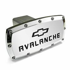 Chevy Avalanche Logo Chrome Billet W/ Allen Bolts Tow Hitch Cover