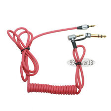 red cord studio cable for Monster Beats by Dr.Dre Detox Pro Headsets