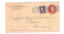 USA saubere GA mit ZuF ab New York 22.10.1910 nach Plauen