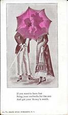 """NEW 1898 Private Mailing Card """"Couple Behind Umbrella"""""""