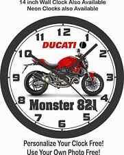 2015 DUCATI MONSTER 821 MOTORCYCLE WALL CLOCK-FREE USA SHIP