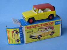 Lesney Matchbox 18E Field Car Boxed Toy Model Car 1960's