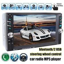 "6.6"" HD Touch Screen Double 2DIN Car Stereo MP5 Player Bluetooth FM Radio"