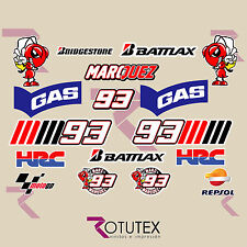 KIT 17X PEGATINAS MARC MARQUEZ 93 HORMIGAS ADHESIVOS STICKERS DECAL MOTO GP HRC