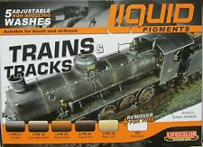Lifecolor Acrylics LC-LP05 Liquid Pigment Trains and Tracks set