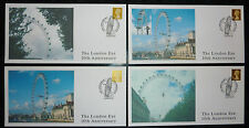 THE LONDON EYE,  FOUR Covers 10th Anniversary SPECIAL HANDSTAMPS