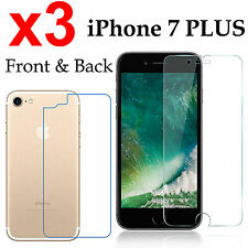 x3 Anti-scratch 4H PET film screen protector Apple iphone 7 PLUS front + back