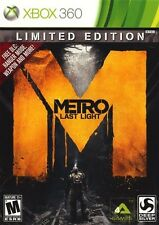 Metro Last Light Limited Edition Xbox 360 Great Condition Complete Fast Shipping