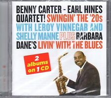 Benny Carter Earl Hines Swingin' The 20s / Barbara Dane Livin' With Blues CD NEW