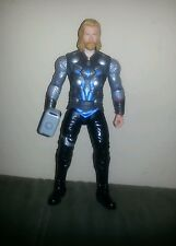 "Marvel Mighty Avenger THOR 10"" Action Figure Lightning Power Lights Sound 2010"