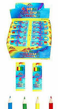 6 x PACKS OF HALF SIZE PENCILS, CHILDRENS PARTY BAG FILLER, FUN