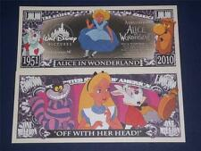 BEAUTIFUL  NOVELTY NOTE DISNEY'S ALICE IN WONDERLAND FREE NOTE OFFER!