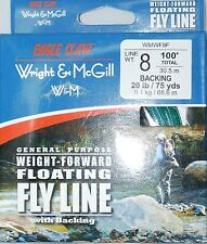 EAGLE CLAW FLY LINE 8 WT FORWARD FLOATING W/ BACKING (CRAPPIE POLE) WMWF8F