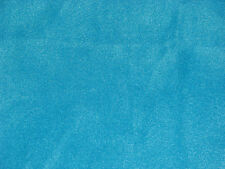 Turquoise Blue Solid Color Anti-Pill Fleece Fabric  by the Yard   BTY