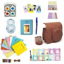 UK 10 in 1 Camera Accessory Bundles Set for Fujifilm Instax Mini 8 Brown Case
