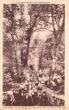 LE FAOUËT la chapelle sainte-barbe un jour de pélerinage timbrée 1933