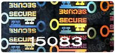 "105x HUGE ""SECURE"" Hologram Stickers NUMBERED, 40mm x 20mm Warranty Labels, Key"