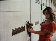 DEMI MOORE leaving Flowers in MARILYN MONROE's Tumb - Original 35mm COLOR Slide