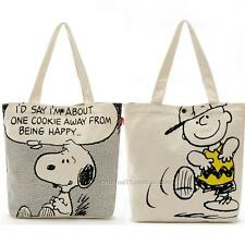 Snoopy Shopping Bag Peanuts Charlie Brown Tote Shoulder Shopping Canvas Ungrid
