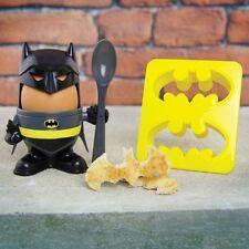 BATMAN EGG CUP and BATMAN Logo TOAST CUTTER + SPOON Plastic DC COMICS