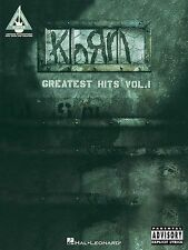 Korn Greatest Hits Learn to Play Pop Rock Guitar TAB Music Book Volume 1