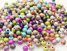 500x Perlenmix Kugeln 6mm bunt Stardust Perlen Acrylperlen Perlenmischung -7033