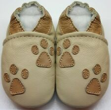 Minishoezoo Canada baby boy shoes 18-24 m paws beige slippers crib shoes