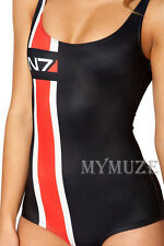 Sexy Mass Effect N7 Galaxy Racer Girl Swimsuit Women Swimwear Bathing Suit