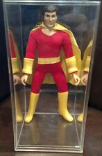 "Vintage Mego SHAZAM 8"" Complete Sewn Sleeves Action Figure with Display Case"