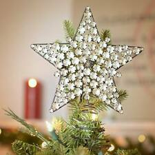 NEW Christmas Holiday Rustic Silver Gem Prism Point Bethlehem Star Tree Topper