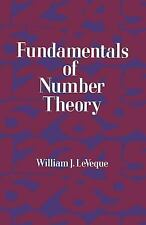☆EXC÷DOVER MATHEMATIC BOOK:*FUNDAMENTALS OF NUMBER THEORY-WILLIAM J. LEVEQUE☆A1☆