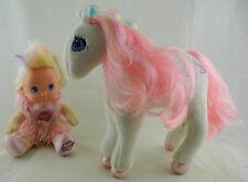 PJ Sparkles + BLAZE Pferd Horse Mattel 1991 1992 mit Lichteffekt #a1