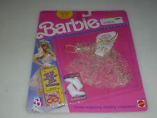 NEW BARBIE FASHIONS SET ICE CAPADES MATTEL 1989 4083 WHITE GOLD SKATING COSTUME
