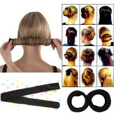 Blcak Hair Styling Donut Former French Twist Magic Hairband DIY Tool Fashion