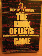 THE BOOK OF LISTS GAME 1979 AVALON HILL BASED ON BEST SELLER STRATEGY TRIVIA BOX