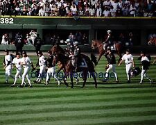 Comiskey Park September 30, 1990 Last Game bullpen police escort Color 8x10 EE