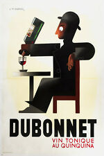A M Cassandre dubonnet serie french vintage ad poster 24X36 noted collectors