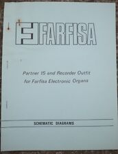 Farfisa Electronic Organ Schematic diagrams Partner 15 and Recorder Outfit